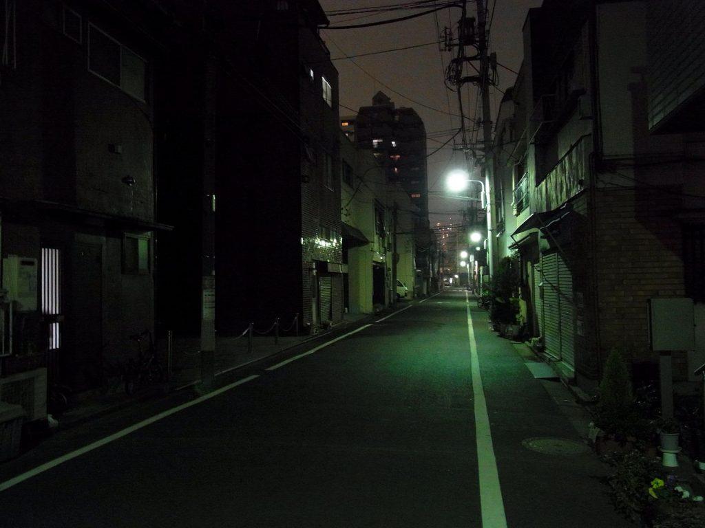(昼と違って夜は暗い道も多いので注意が必要)