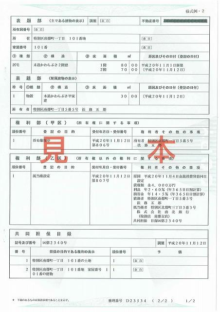 不動産購入時に必ず目にする登記簿謄本。